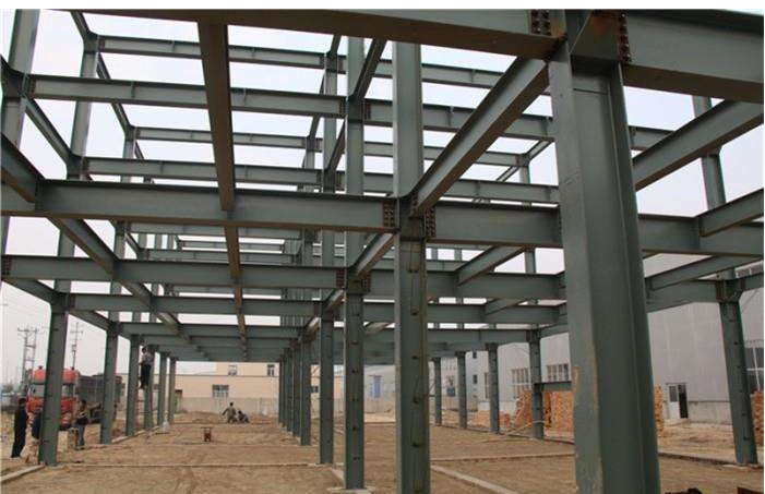 steel structure of building