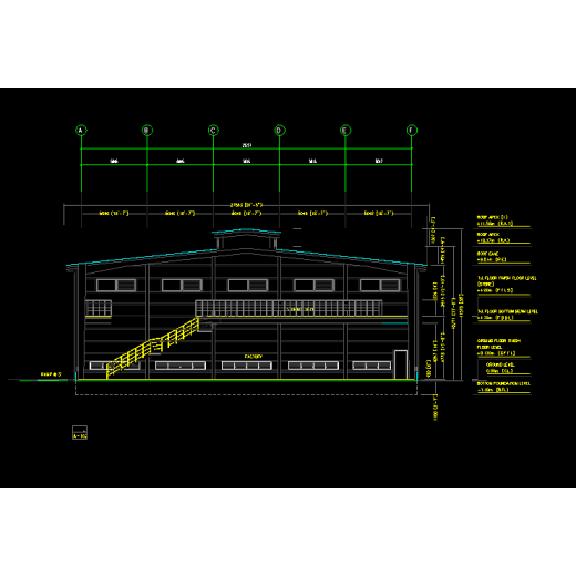 Tracking of Indonesia Prefabricated Steel Structure Workshop- Design Drawing