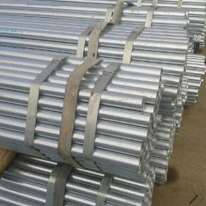 DIN2445 Galvanized Air Pressure Gas Steel Tube Pipe