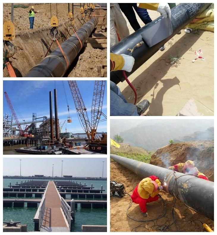 خط أنابيب مشاريع الأنابيب الفولاذية