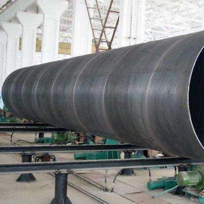 Tuyau d'acier soudé en spirale SSAW, tuyau d'acier de diamètre 1800mm pour eau