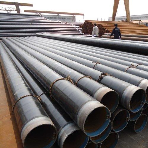 3 طبقات مقاومة للتآكل طلاء الأنابيب الفولاذية الحلزونية