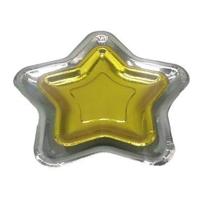 Gold/silver foil Star shape party decoration fancy paper plates