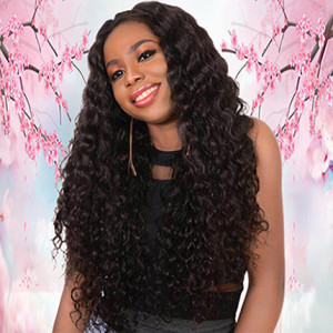 Wholesale Factory Price Deep Curly Pre Plucked Heavy Density 360 Human Hair Wigs With Baby Hair