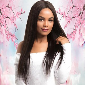 China Manufacturer Supplier Black Long Silky Straight 13X4 Lace Front Wigs