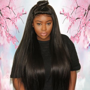 Whosale Price Natural Hairline Raw Virgin Brazilian Human Hair Silky Straight Full Lace Wig For Women