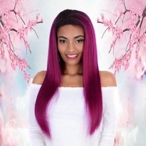 Wholesale Price Bleach Knots Kinky Straight Full Lace Wig Human Hair With Natural Hairline