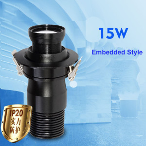 15W embedded type led gobo projection light