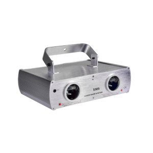 Stage lighting equipment Double lens red blue laser 220mw laser beam light