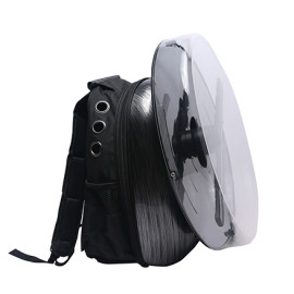 newest rechargeable power advertising 3D hologram led fan with backpack protective cover
