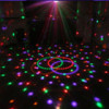 6 x 1w led light disco color changed plastic crystal ball