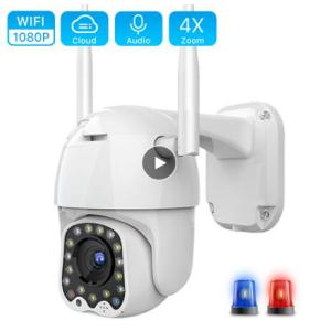 1080P Cloud Wifi PTZ Camera Outdoor 2MP Auto Tracking Home Security IP Camera