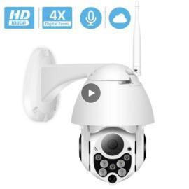 1080P PTZ IP Camera Wifi Outdoor Speed Dome Wireless Wifi Security Camera Pan Tilt 4X Digital