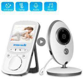 Wireless LCD Audio Video Baby Monitor Radio Nanny Music Intercom IR 24h Portable Baby Camera Baby