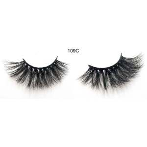 25mm Mink Strip Dramatic False Eyelashes