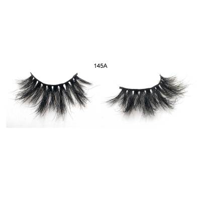 25mm 145A Mink Fur Dramatic Volumn lashes Strip