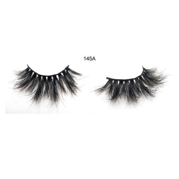 25mm 145A Mink Fur Dramatic Volumn lashes Strip