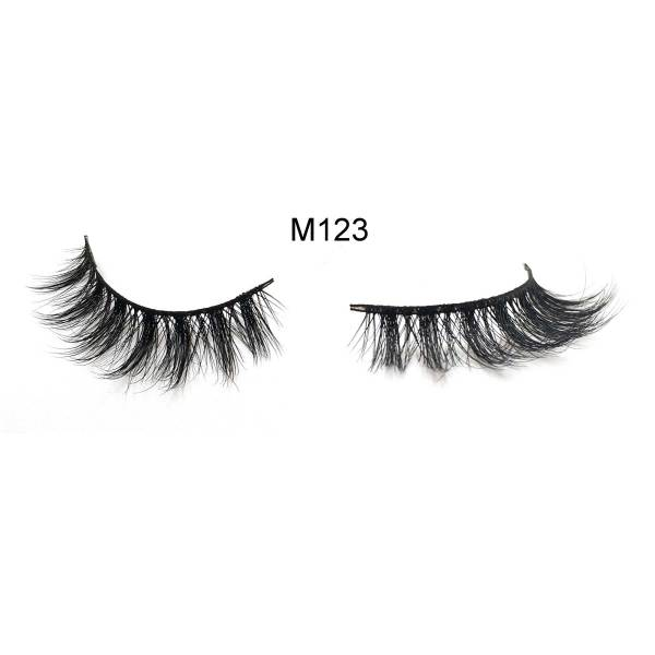 Crossed Cluster 100% real 3D Mink Lashes