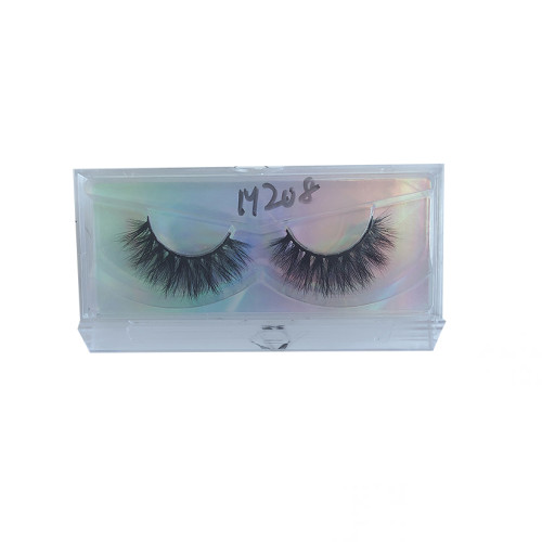Top quality 14-18mm M208 style private label mink eyelash
