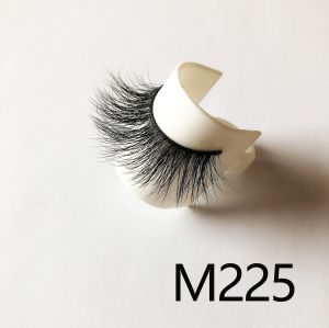 Top quality 14-18mm M225 style private label mink eyelash