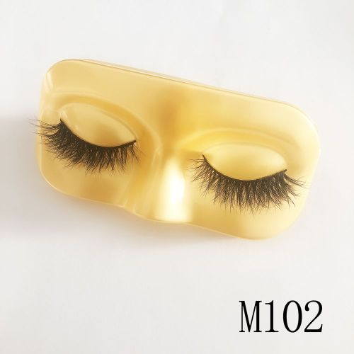 Top quality 14-18mm M102 style private label mink eyelash