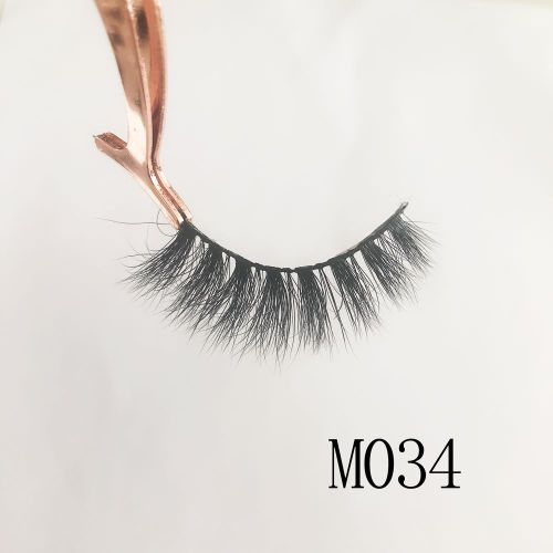 Top quality 14-18mm M034 style private label mink eyelash