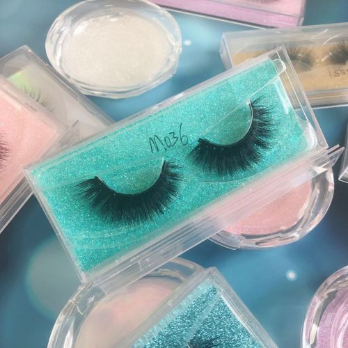 Top quality 14-18mm M036 style private label mink eyelash
