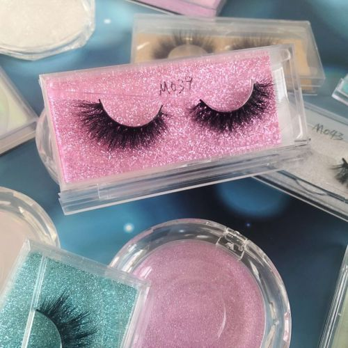 Top quality 14-18mm M039 style private label mink eyelash