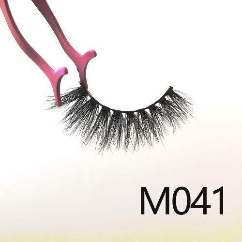 Top quality 14-18mm M041 style private label mink eyelash