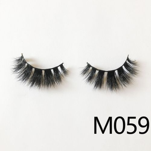 Top quality 14-18mm M059 style private label mink eyelash