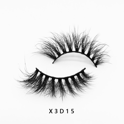 Top quality 20mm X3D15 style private label faux mink eyelash