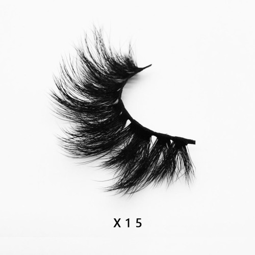 Top quality 20mm X15 style private label faux mink eyelash