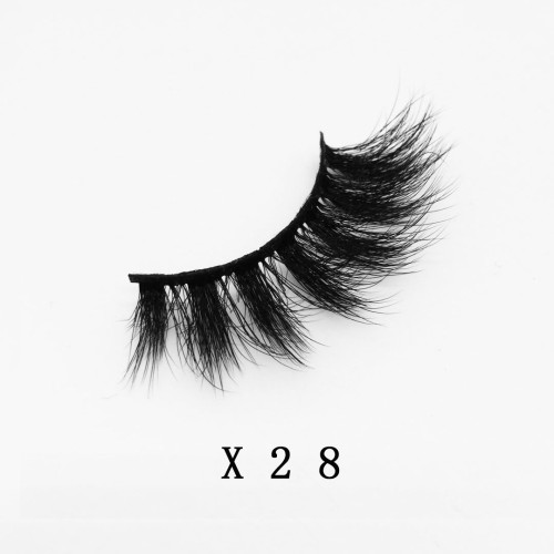 Top quality 20mm X28 style private label faux mink eyelash