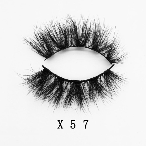 Top quality 20mm X57 style private label faux mink eyelash