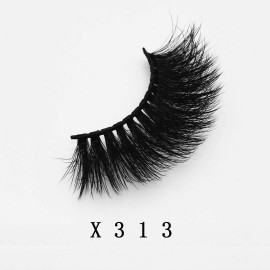 Top quality 20mm X313 style private label faux mink eyelash
