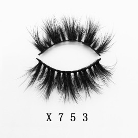 Top quality 25mm X753A style private label faux mink eyelash
