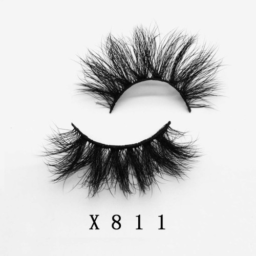 Top quality 20mm X811 style private label faux mink eyelash