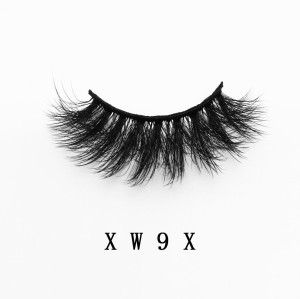 Top quality 20mm XW9X style private label faux mink eyelash