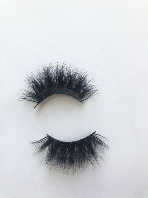 Top quality 25mm X48C style private label faux mink eyelash
