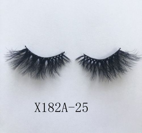 Top quality 25mm X182A style private label faux mink eyelash