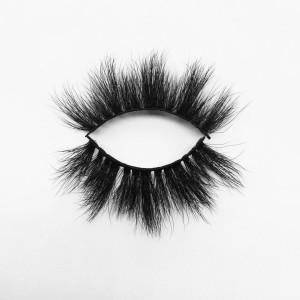 Top quality 25mm B753C style private label silk eyelash