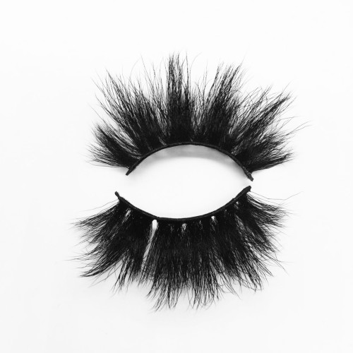 Top quality 25mm B15 style private label silk eyelash