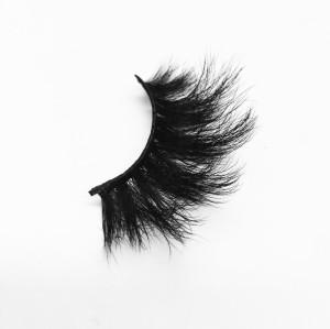 Top quality 25mm B15 style private label silk eyelash