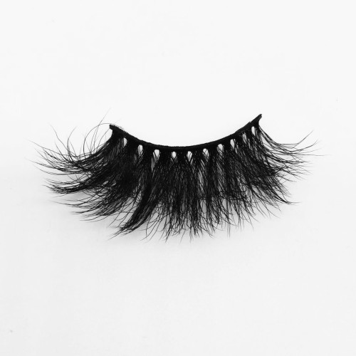 Top quality 25mm B611A style private label silk eyelash