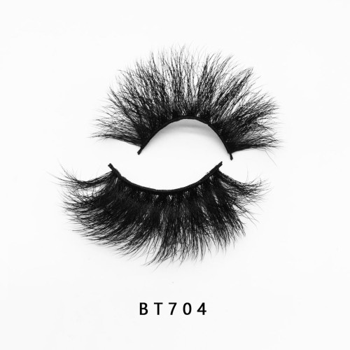 Top quality 25mm BT704 style private label silk eyelash