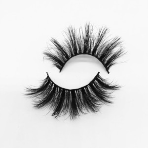 Top quality 25mm P801 style private label silk eyelash