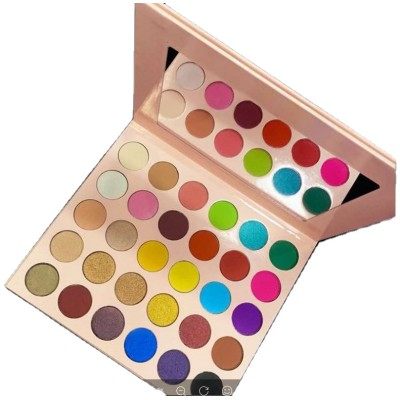 New arrival custom cosmetics makeup products baby pink 30 color eye shadow palette