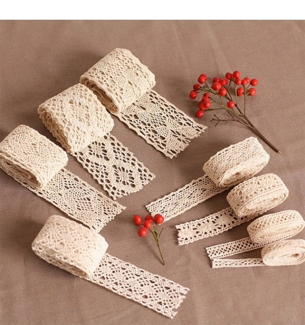 High quality new design cotton wedding lace fabrics/Crochet Cotton cord embroidered Lace