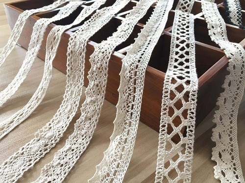 High quality 100% Cotton embroidery water soluble Trim cotton lace