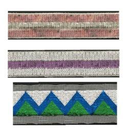 wholesale hot sale embroidery reversible sequin mesh trim sequin tape